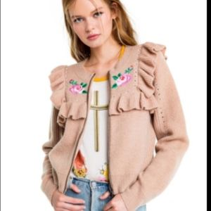 Wildfox Couture Bed Of Roses Elliot Jacket Sweater